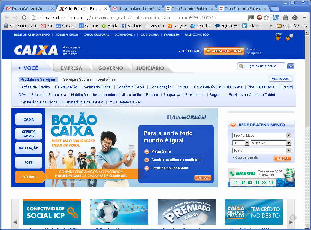 E-mail Falso CEF - Site Clonado