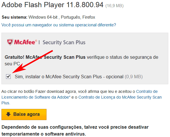 Instalar o Adobe Flash Player