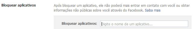 Facebook - Bloquear Aplicativos