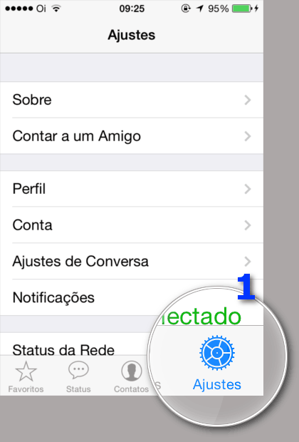 Bloquear Contatos WhatsApp - Ajustes