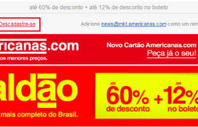 Opt-out Americanas.com